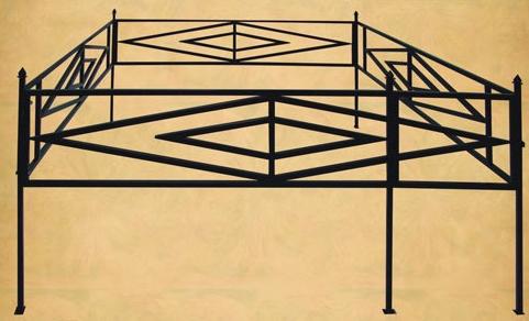 Ограда ромб 2