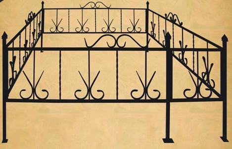 Ограда гусиные лапки
