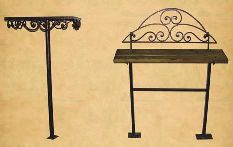 Кованный стол с лавкой