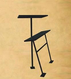 Стол с лавкой металлические
